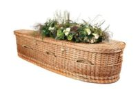 basket weave casket with woven handles