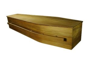 rimu archetype casket with long bar handle