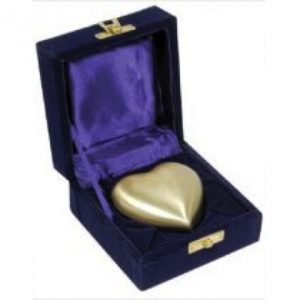 gold heart keepsake for ashes