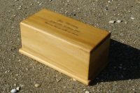 rimu ash urn with writing