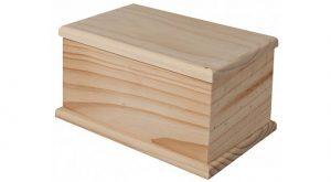 solid pine ash urn